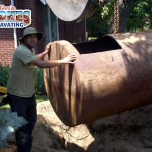 Removal of old heating oil tank.